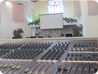 picture of soundboard installed at place of worship